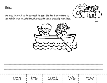 Camping Literacy Stations