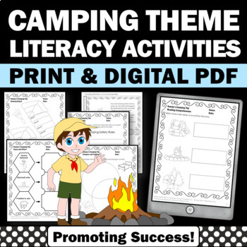 Camping Theme Activities, Summer Packet