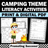 Summer Camping Theme Activities, Language Arts Worksheets
