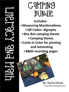 Camping Literacy and Math Activities
