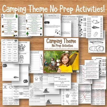 Camping Literacy and Math Bundle
