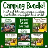 Camping Literacy and Math Bundle