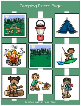 Camping Matching Book (Adapted Book)