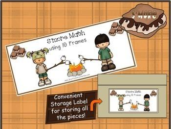 Camping Math 10-Frames: S'more Math Center