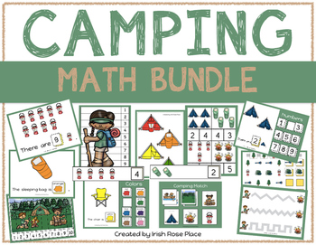 Camping Math Bundle with Adapted Books