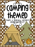 Camping Math & Literacy Centers {Common Core Activities for K-1st}
