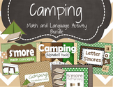 Camping Math and Language Activity Bundle