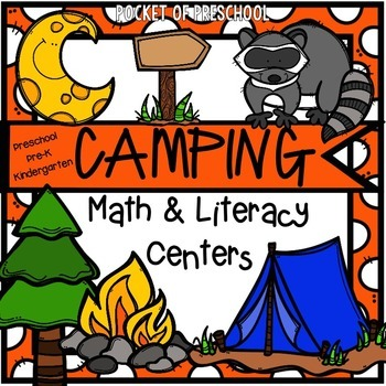 Camping Math And Literacy Centers For Preschool Pre K Kindergarten