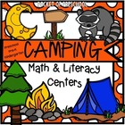 Camping Math and Literacy Centers for Preschool, Pre-K, and Kindergarten
