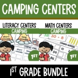 Camping Math and Literacy Centers Bundle