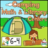Camping Math and Literacy Centers