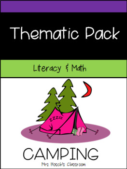 Camping Math and Literacy Unit