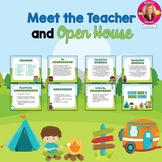 Camping Themed Meet the Teacher and Open House EDITABLE PowerPoint