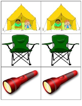 Camping Memory Match Game