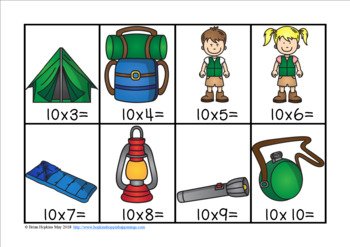 Camping Multiplication Race