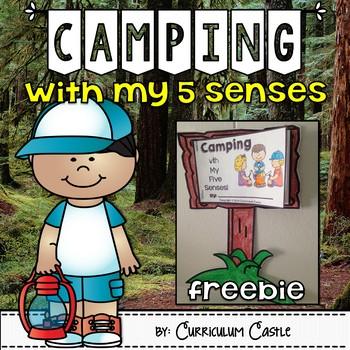 Camping & My Five Senses Craftivity Freebie!