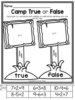 Camping Kindergarten Math & Literacy Printables