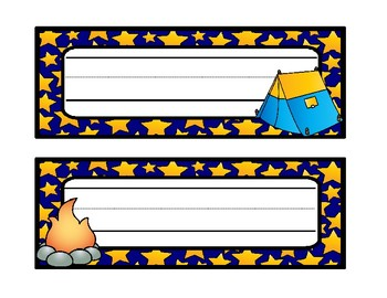Camping Name Tags and Desk Tags