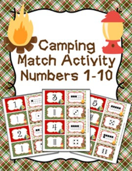 Camping Number Match Activity