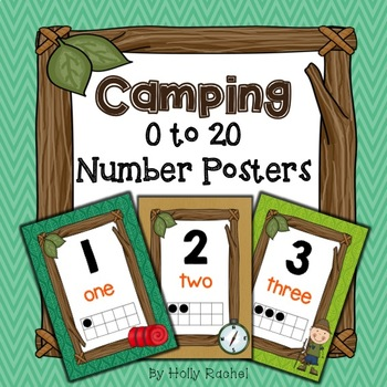 Camping Number Posters 0 to 20