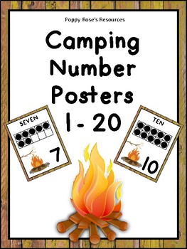Camping Number Posters
