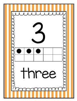 Camping Number Wall Cards