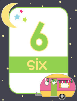 Camping Numbers and Ten Frame Posters