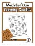Camping Object Matching - Print, Answer & Color Worksheets