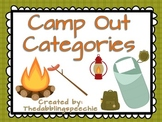 Camping Out Categories!