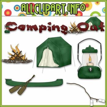 $1.00 BARGAIN BIN - Camping Out Clip Art