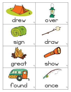 Camping Out~First Grade Unit 4 Common Core Sight Word Game