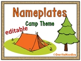 Camping Out Nameplates Editable Bundle