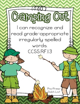 Camping Out~A Pre-Primer Dolch Sight Word Game