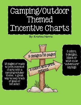 Camping/Outdoor Themed Incentive Charts
