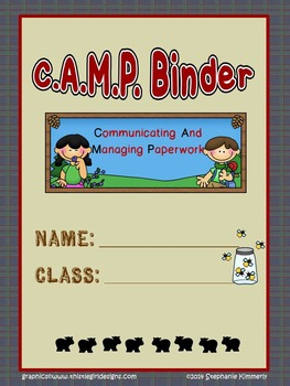 Camping {Outdoors} Binder Cover