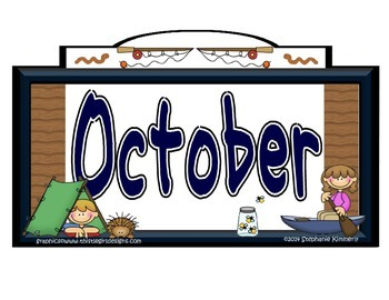 Camping (Outdoors) Calendar Month Headers