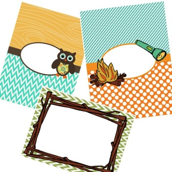 Camping Owls Classroom Theme
