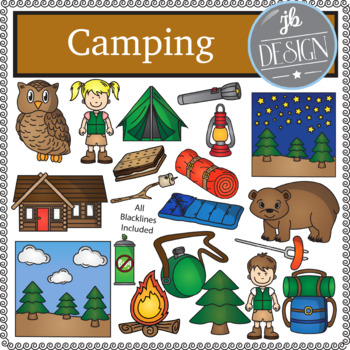 Camping Pack (JB Design Clip Art for Personal or Commercial Use)
