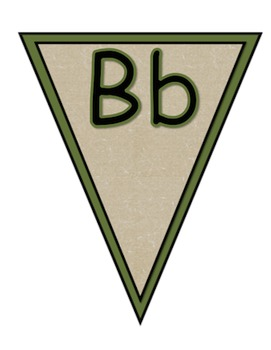 Camping Pennant ABCs Banner