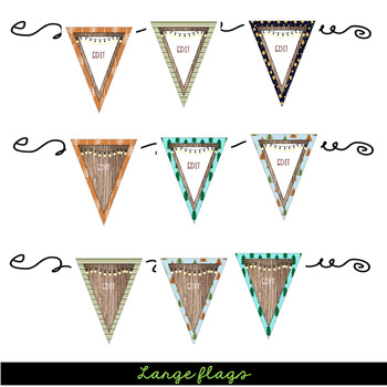 Camping- Pennants & Posters (Editable)