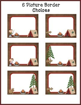 Camping Picture Display
