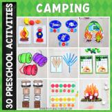 Camping Preschool Kindergarten Unit - Math and Literacy Centers