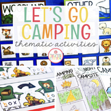 CAMPING THEME ACTIVITIES FOR PRESCHOOL, PRE-K AND KINDERGARTEN