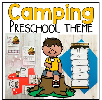 Camping Math and Literacy Centers for Preschool, PreK, and Kinder