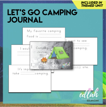 photograph regarding Printable Journal Pages called Tenting Printable Magazine (Comprehensive Coloration and Black and White Styles)