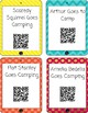 Camping QR Code Read Aloud Listening Centers