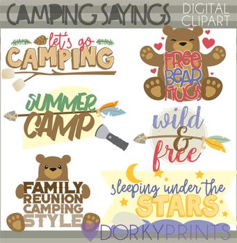Camping Quptes Clip Art