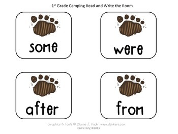 Camping Read and Write the Room BUNDLE Common Core Aligned