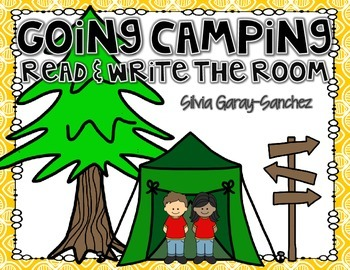Camping Read and Write the Room Center