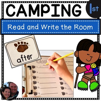 Camping Read and Write the Room First Grade - Common Core Aligned